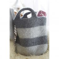 Striped Felted Bag 6820B