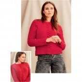 Top Down Raglanpullover Sonia