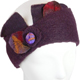 Headband with hand-felted leaf elements : aubergine