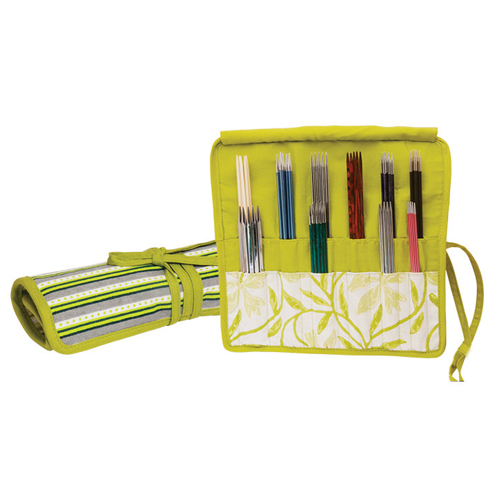 KnitPro knitting needle case for fixed circular needles Greenery.
