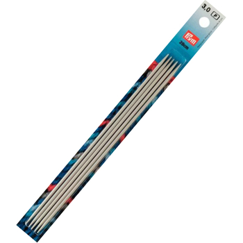 Prym Double-pointed knitting pins Aluminium 20 cm - 3 mm