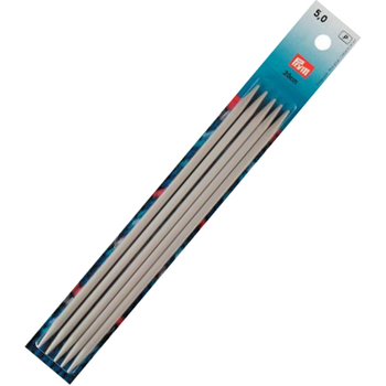 Prym Double-pointed knitting pins Aluminium 20 cm - 5 mm