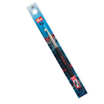 Prym Crochet hook for wool Aluminium with handle 14 cm - 4,5 mm