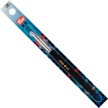 Prym Crochet hook for wool Aluminium with handle 14 cm - 6 mm