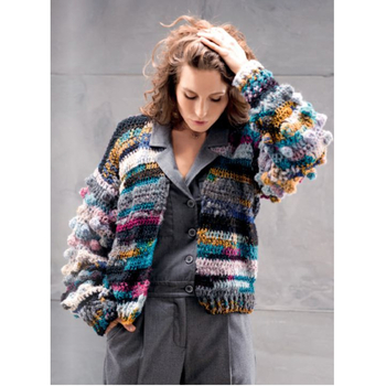Crocheted jacket with knobs 17