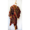 Poncho - handwoven - terracotta/copper/sand/ivy