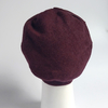 Beanie from organic cotton fleece - bordeaux red
