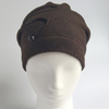 Beanie from organic cotton fleece - mocca