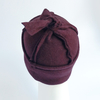 Knot cap made of organic cotton - burgundy