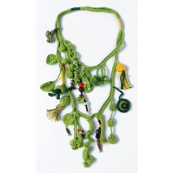 Crocheted Collier - green