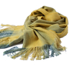 Scarf - handwoven - yellow multicolor