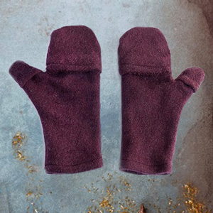 Fingerless gloves with caps in organic quality for him and her
