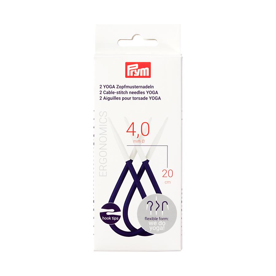 "8/"" 20 cm :Yoga Cable-Stitch Needles: Prym Ergonomics Set of 2 6 US 4 mm"
