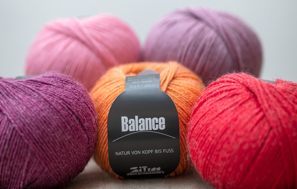 New by Atelier Zitron: Balance - Noble mixture of Merino extrafine and Tencel
