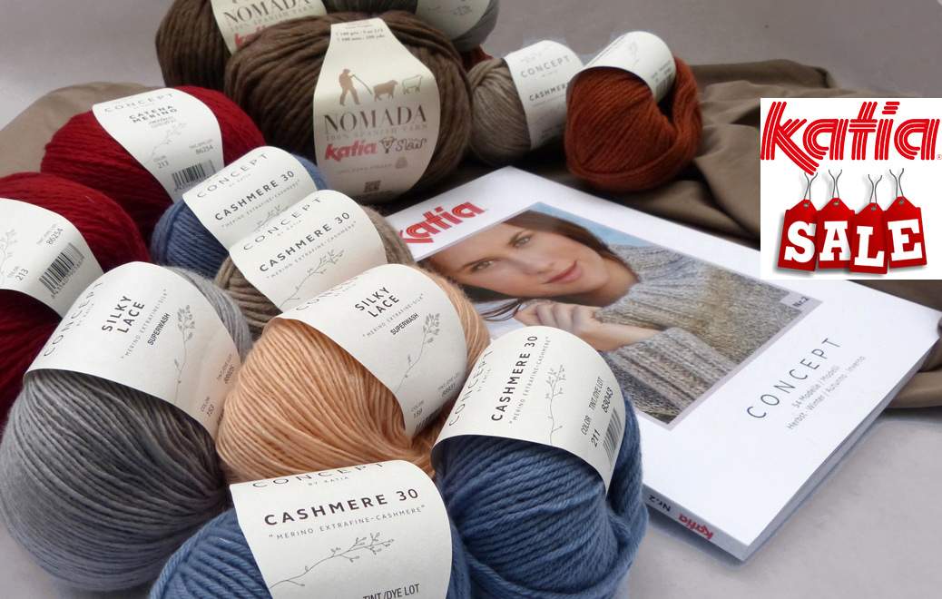 Katia SALE: We do not stock Katia yarns anymore in our regular assortment. On sale while supplies last
